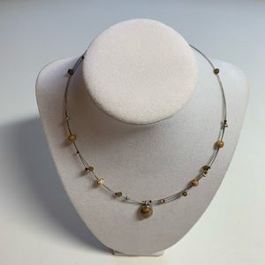 NY & Co Choker Necklace Brown Stones Beads